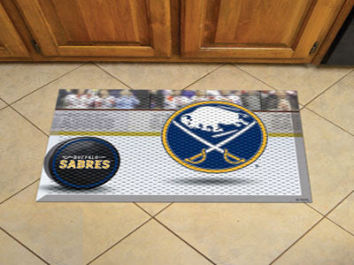 "NHL Officially licensed products Buffalo Sabres Scraper Mat 19""x30"" - Puck Scraper Mats by Sports Licensing Solutions are gr"