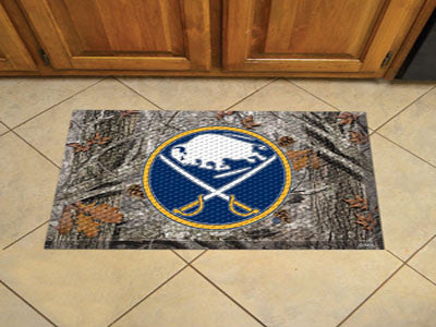 "NHL Officially licensed products Buffalo Sabres Scraper Mat 19""x30"" - Camo Scraper Mats by Sports Licensing Solutions are gr"