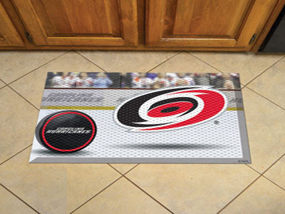 "NHL Officially licensed products Carolina Hurricanes Scraper Mat 19""x30"" - Puck Scraper Mats by Sports Licensing Solutions a"