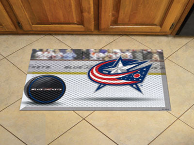 "NHL Officially licensed products Columbus Blue Jackets Scraper Mat 19""x30"" - Puck Scraper Mats by Sports Licensing Solutions"