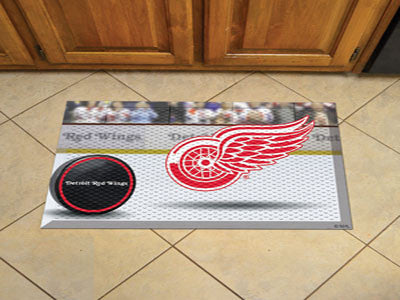 "NHL Officially licensed products Detroit Red Wings Scraper Mat 19""x30"" - Puck Scraper Mats by Sports Licensing Solutions are"