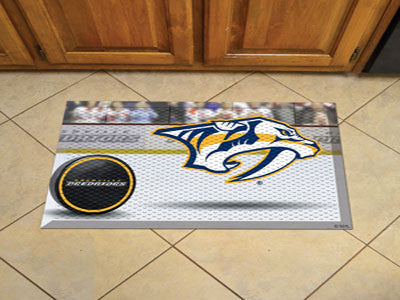 "NHL Officially licensed products Nashville Predators Scraper Mat 19""x30"" - Puck Scraper Mats by Sports Licensing Solutions a"