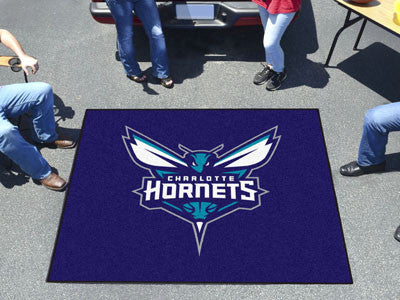 NBA Officially licensed products Charlotte Hornets Tailgater Rug 5'x6' Start showing off your team pride with a Tailgater Ma