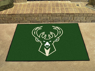 "NBA Officially licensed products Milwaukee Bucks All-Star Mat 33.75""x42.5"" Join the All-Star team and decorate your home or"