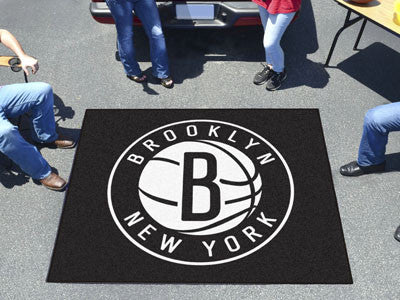 NBA Officially licensed products Brooklyn Nets Tailgater Rug 5'x6' Start showing off your team pride with a Tailgater Mat fr