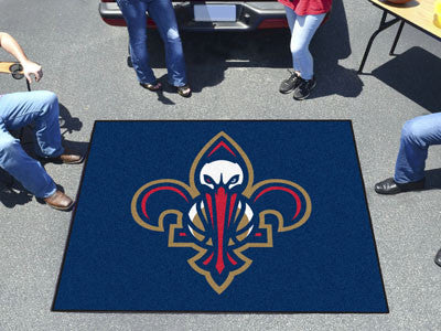 NBA Officially licensed products New Orleans Pelicans Tailgater Rug 5'x6' Start showing off your team pride with a Tailgater