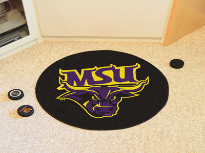 "NCAA Officially licensed Minnesota State University - Mankato Puck Mat 27"" diameter Protect your floor in style and show off"