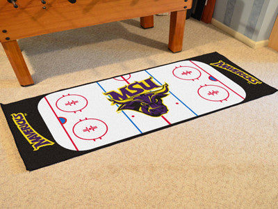 "NCAA Officially licensed Minnesota State University - Mankato Rink Runner 30""x72"" The ice might be cool but these hockey Rin"