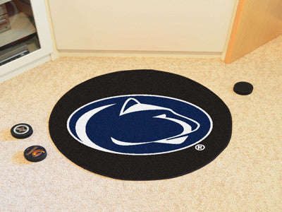 "NCAA Officially licensed Penn State  Puck Mat 27"" diameter Protect your floor in style and show off your fandom with Puck Ma"