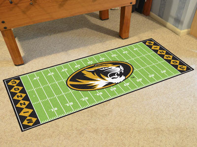 "NCAA Officially licensed University of Missouri Football Field Runner 30""x72"" Are you a die-hard football fan that likes to"