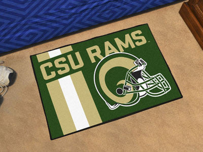 "NCAA Officially licensed Colorado State University Starter Mat 19""x30"" Start showing off your team pride at home and the off"