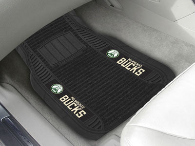 "NBA Officially licensed products Milwaukee Bucks Deluxe Mat 21""x27"" Deluxe Car Mats are perfect for anyone who is serious ab"