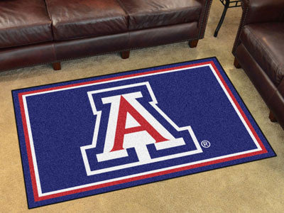 "NCAA Officially licensed University of Arizona 4x6 Rug 44""x71"" Show off your team pride in a big way! 4'x6' ultra plush area"