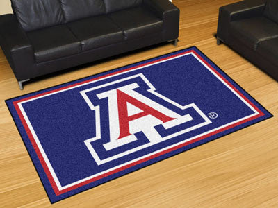 "NCAA Officially licensed University of Arizona 5x8 Rug 59.5""x88"" Show off your team pride in a big way! 5'x8' ultra plush ar"