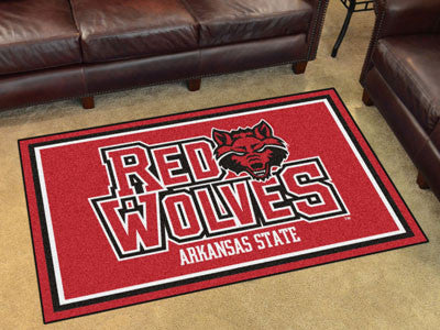 "NCAA Officially licensed Arkansas State University 4x6 Rug 44""x71"" Show off your team pride in a big way! 4'x6' ultra plush"