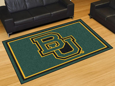 "NCAA Officially licensed Baylor University 5x8 Rug 59.5""x88"" Show off your team pride in a big way! 5'x8' ultra plush area r"