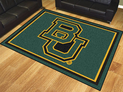 "NCAA Officially licensed Baylor University 8x10 Rug 87""x117"" Show off your team pride in a big way! 8'x10' ultra plush area"
