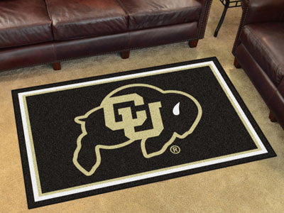 "NCAA Officially licensed University of Colorado 4x6 Rug 44""x71"" Show off your team pride in a big way! 4'x6' ultra plush are"