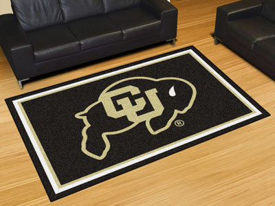 "NCAA Officially licensed University of Colorado 5x8 Rug 59.5""x88"" Show off your team pride in a big way! 5'x8' ultra plush a"