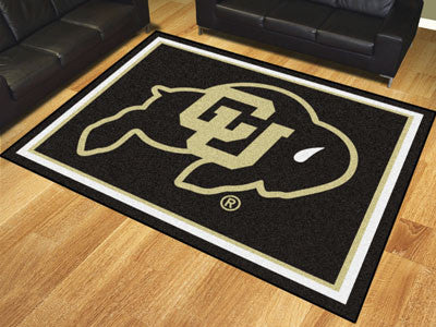 "NCAA Officially licensed University of Colorado 8x10 Rug 87""x117"" Show off your team pride in a big way! 8'x10' ultra plush"