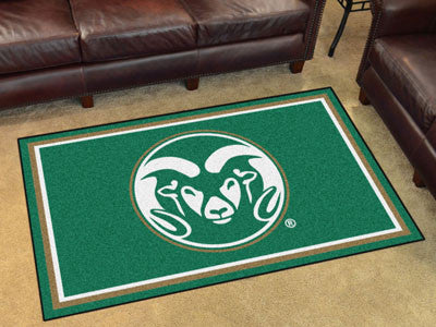 "NCAA Officially licensed Colorado State University 4x6 Rug 44""x71"" Show off your team pride in a big way! 4'x6' ultra plush"