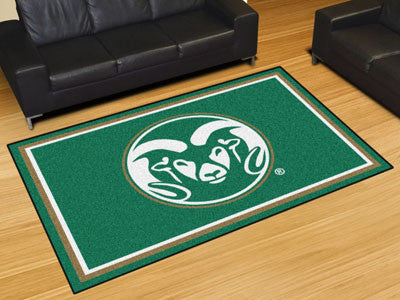 "NCAA Officially licensed Colorado State University 5x8 Rug 59.5""x88"" Show off your team pride in a big way! 5'x8' ultra plus"