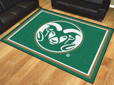 "NCAA Officially licensed Colorado State University 8x10 Rug 87""x117"" Show off your team pride in a big way! 8'x10' ultra plu"