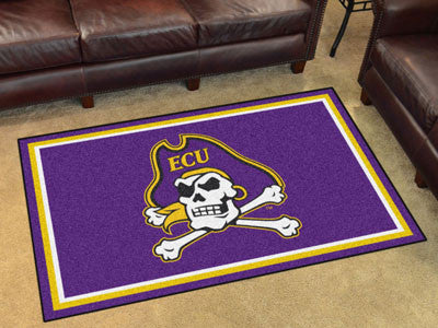 "NCAA Officially licensed East Carolina University 4x6 Rug 44""x71"" Show off your team pride in a big way! 4'x6' ultra plush a"