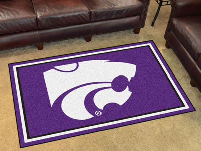 "NCAA Officially licensed Kansas State University 4x6 Rug 44""x71"" Show off your team pride in a big way! 4'x6' ultra plush ar"