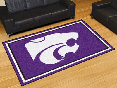 "NCAA Officially licensed Kansas State University 5x8 Rug 59.5""x88"" Show off your team pride in a big way! 5'x8' ultra plush"