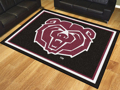 "NCAA Officially licensed Missouri State 8x10 Rug 87""x117"" Show off your team pride in a big way! 8'x10' ultra plush area rug"