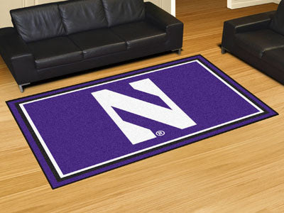 "NCAA Officially licensed Northwestern University 5x8 Rug 59.5""x88"" Show off your team pride in a big way! 5'x8' ultra plush"