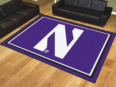 "NCAA Officially licensed Northwestern University 8x10 Rug 87""x117"" Show off your team pride in a big way! 8'x10' ultra plush"