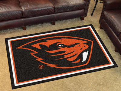 "NCAA Officially licensed Oregon State University 4x6 Rug 44""x71"" Show off your team pride in a big way! 4'x6' ultra plush ar"