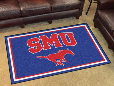 "NCAA Officially licensed Southern Methodist University 4x6 Rug 44""x71"" Show off your team pride in a big way! 4'x6' ultra pl"