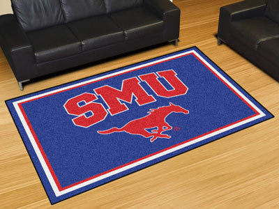 "NCAA Officially licensed Southern Methodist University 5x8 Rug 59.5""x88"" Show off your team pride in a big way! 5'x8' ultra"