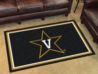 "NCAA Officially licensed Vanderbilt University 4x6 Rug 44""x71"" Show off your team pride in a big way! 4'x6' ultra plush area"
