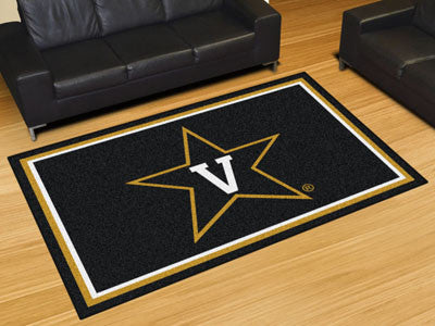"NCAA Officially licensed Vanderbilt University 5x8 Rug 59.5""x88"" Show off your team pride in a big way! 5'x8' ultra plush ar"