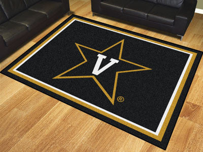 "NCAA Officially licensed Vanderbilt University 8x10 Rug 87""x117"" Show off your team pride in a big way! 8'x10' ultra plush a"