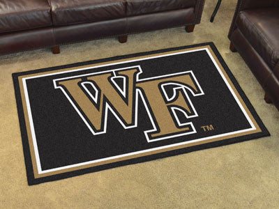 "NCAA Officially licensed Wake Forest University 4x6 Rug 44""x71"" Show off your team pride in a big way! 4'x6' ultra plush are"