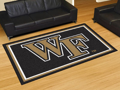 "NCAA Officially licensed Wake Forest University 5x8 Rug 59.5""x88"" Show off your team pride in a big way! 5'x8' ultra plush a"