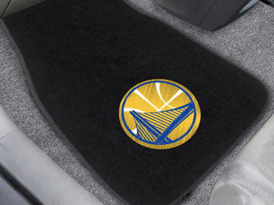 "NBA Officially licensed products Golden State Warriors 2-pc Embroidered Car Mats 18""x27"" Protect the interior of your vehicl"