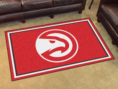 NBA Officially licensed products Atlanta Hawks 4'x6' Rug Show off your team pride in a big way! 4'x6' ultra plush area rugs