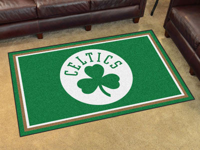 NBA Officially licensed products Boston Celtics 4'x6' Rug Show off your team pride in a big way! 4'x6' ultra plush area rugs