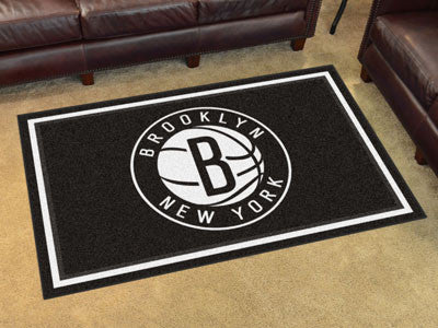 NBA Officially licensed products Brooklyn Nets 4'x6' Rug Show off your team pride in a big way! 4'x6' ultra plush area rugs