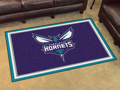 NBA Officially licensed products Charlotte Hornets 4'x6' Rug Show off your team pride in a big way! 4'x6' ultra plush area r