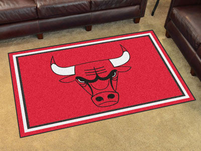 NBA Officially licensed products Chicago Bulls 4'x6' Rug Show off your team pride in a big way! 4'x6' ultra plush area rugs