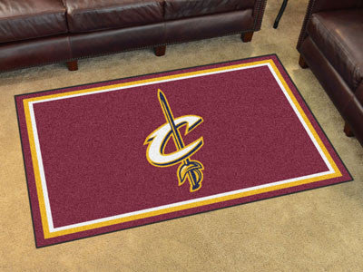 NBA Officially licensed products Cleveland Cavaliers 4'x6' Rug Show off your team pride in a big way! 4'x6' ultra plush area