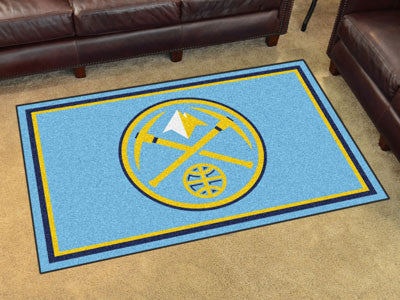 NBA Officially licensed products Denver Nuggets 4'x6' Rug Show off your team pride in a big way! 4'x6' ultra plush area rugs