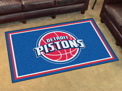 NBA Officially licensed products Detroit Pistons 4'x6' Rug Show off your team pride in a big way! 4'x6' ultra plush area rug